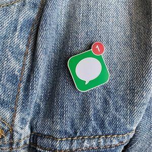 New Message Enamel Pin